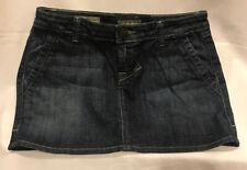 William Rast Mini Skirt Jean Denim Size 0 25 W