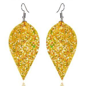 Hot Handmade Leather Earrings Boho Leaf Teardrop Dangle Ear Stud Women Jewelry