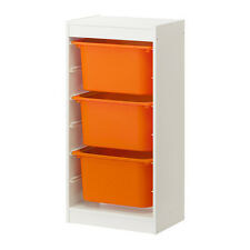 STURDY IKEA TROFAST Storage combination, white, orange