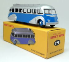 Atlas Dinky Toys Reproduction 29E Autocar Isobloc Blue Silver Diecast Model Bus