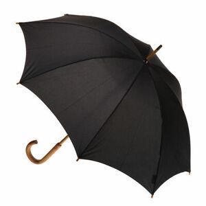 Men's Manual Wood Umbrella Black