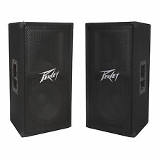 "Peavey PV112 2-Way 12"" 800 Watt Pro DJ Sound Speaker Monitor PA System (2 Pack)"
