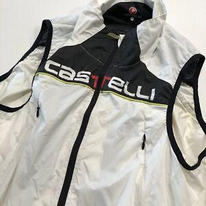 Castelli Cycling Vest Men's Medium White Rear Vent Pockets