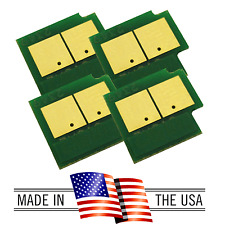 4 Toner Chip for Samsung CLX-6200FX CLX-6200ND CLX-6210FX CLX-6240FX (XAA, SEE)