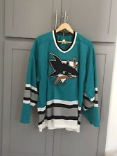 Authentic Brand New Vintage San Jose Sharks Jersey XL CCM Embroidered