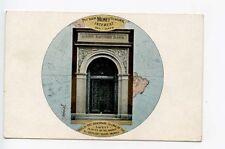 Portland ME Maine Savings Bank Door Way Advertising Postcard