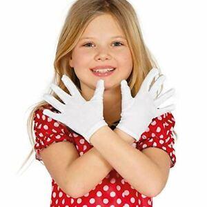 Child Childrens Kids White Gloves Halloween Chirstmas World Book Day Fancy Dress