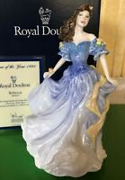 ROYAL DOULTON LADY FIGURE REBECCA HN 4041 BLUE DRESS BOXED WITH CERT PERFECT