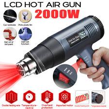 2000W Heat Gun Hot Air Gun Dual Temperature 4 Nozzles Power Tool Paint  W