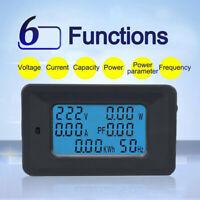 AC LCD 100A Digital Panel Power Watt Meter Monitor Voltage Voltmeter Ammeter