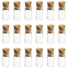 10 X Tiny 0.5ml Glass Bottles Cork Wood Stopper Vial Mini Jar Bottle Pendant