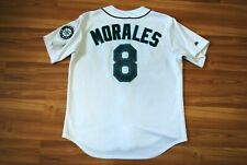 KENDRYS MORALES 8 SEATTLE MARINERS JERSEY SHIRT VINTAGE WHITE COLOR MLB ORIGINAL