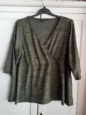 SIZE 22 / 24 MOCK WRAP TOP FROM DOROTHY PERKINS