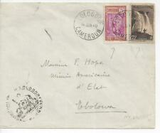 French Cameroun 1940 Lolodorf Cover to Ebolowa with 2 Stamps
