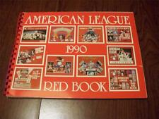 1990 American League Red Book ~ Media/Stats Guide