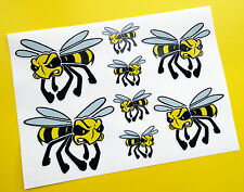 VESPA ANGRY WASP!  Scooter Decals Stickers set of 8 Lambretta