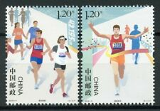 China 2019 MNH Marathon Running 2v Set Sports Stamps