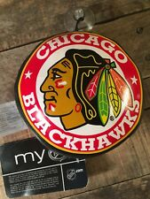 Chicago BLACKHAWKS Plush Hockey Puck Suction Window Car Hanger NEW My NHL