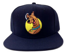 e4f66cd1a58 SCOOBY DOO EMBROIDERED CHARACTER FACE LOGO BLACK ADJUSTABLE SNAPBACK HAT CAP  NWT