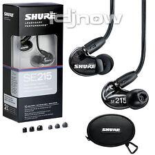 Shure SE215 (Black) Sound Isolating In-Ear DJ Monitoring Headphones/Earphones