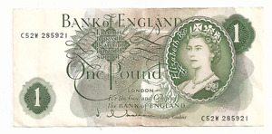 1960-1977 Bank of England One Pound Bank Note