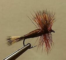 1 Dozen - Brown Wulff -  Dry Fly - Trout