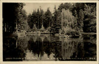 Lázně Rožnov pod Radhoštěm Tschechien Postkarte ~1940/50 Partie im Park See Wald