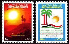 UAE 1998 ** Mi.585/86 Umweltschutz Wüste Environment