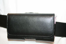 Black iPhone 3 3GS Leather Case Belt Clip Holster