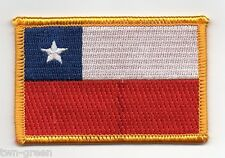 "CHILE Flag IRON-ON Embroidered Patch  2"" X 3""  crest badge"