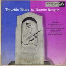 """Travellin' Blues by Jimmie Rodgers Vinyl 10"""" LP 33 Country Album VG+ Mono 1952"""