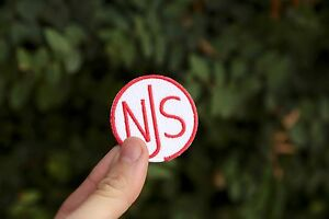 NJS embroidered patch US Made fixed gear track #savethetrackbike