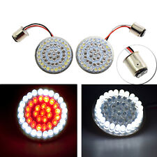 White/Red 1157 Bullet LED Turn Signal Inserts For Harley Touring Softail 11-17