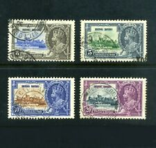 HONG KONG 1935  Silver Jubilee  Set of 4  SG 133-136  Used   (S*-10)