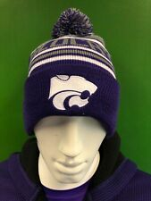 WH285 NCAA Kansas State Wildcats Woolly Bobble Hat Striped OSFA