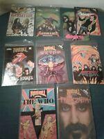 Rock-N-Roll Comic Book Lot of 9 Doors Stones ZZ Top Zeppelin Metallica