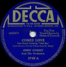 JIMMY DORSEY Comes Love b/w Let's Make Memories Tonight (Orig. U.S. 1939 10inch)