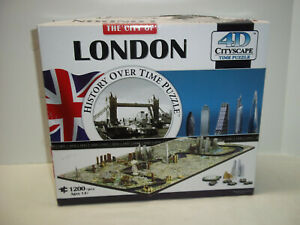 4D Cityscape City Of London 1200+ Piece Jigsaw Puzzle History Over Time