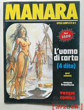 MILO MANARA OPERE COMPLETE 4 L'Uomo di Carta TOTEM COMICS NUOVA FRONTIERA 1992