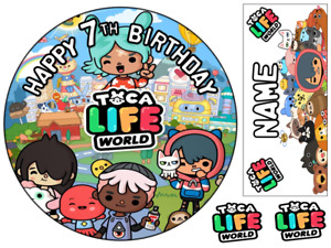 TOCA LIFE WORLD INSPIRED  PERSONALISED EDIBLE ICING CAKE TOPPER UP TO A3