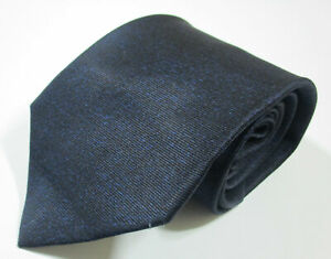 Bvlgari Solid Pattern Blue Color Silk Seven Fold Classic Necktie Tie