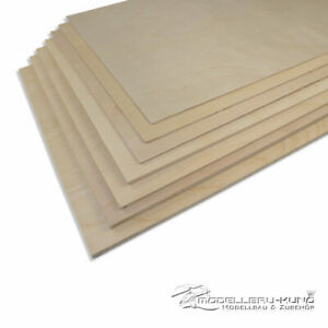 Birken-Sperrholz Holz Birke 300 x 500 mm wählbar 0,4mm bis 6,0mm