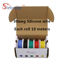 50m 30AWG Silicone Wire 5 color Mix box 1 package Electrical Wire Copper line