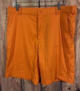 Nike Golf Shorts Tour Performance Dri Fit Men's Flat Front Bright Orange Size 36