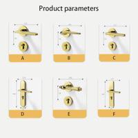 Türgriff Türdrücker  Drückergarnitur Poliert Satiniert Gold Design Langschild
