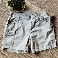 "Columbia Women Small Khaki Tan Hiking/Cargo Shorts 5 1/2"" Inseam Cotton"
