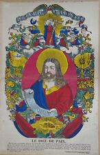 Rare Vintage Imagerie Epinal Pellerin print/Le Dieu de Paix INV2305