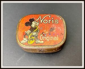 ⭐ MICKEY MOUSE NORRIS - Record Needles Tin box - Disney 1930s - DISNEYANA.IT ⭐
