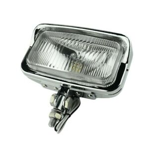 """6.5""""x 3.5"""" Square Chrome Headlight Motorcycle Bottom Mount Head Lamp For Harley"""