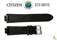 Citizen Eco-Drive AU1065-07E 23mm Black Leather Watch Band Strap S086892